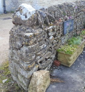 A new corner needed on a dry stone wall