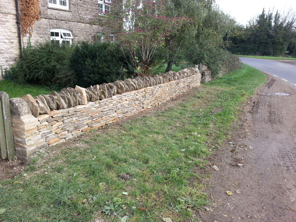 Repaired wall in Brize Norton