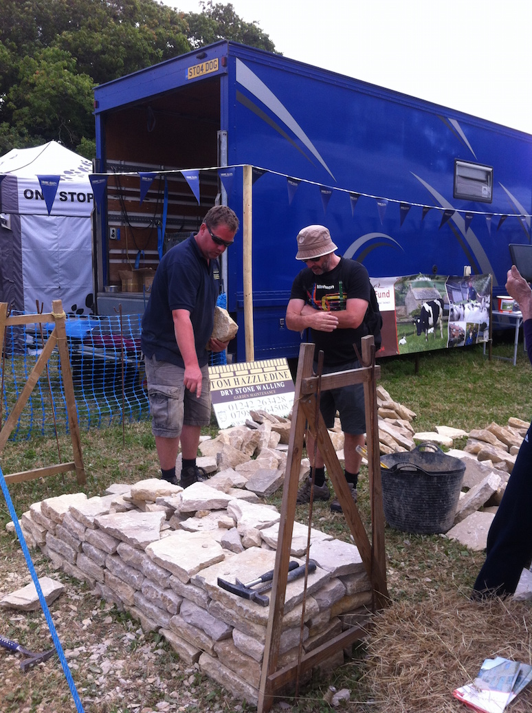 Cotswold Show - dry stone walling exhibit