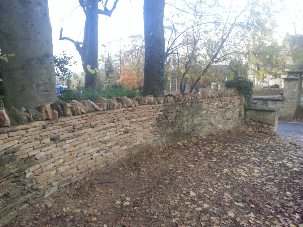 Village wall in Chipping Norton