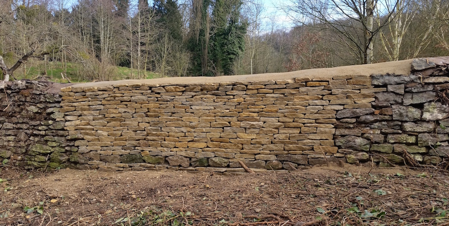 Another section of the Ledbury wall.